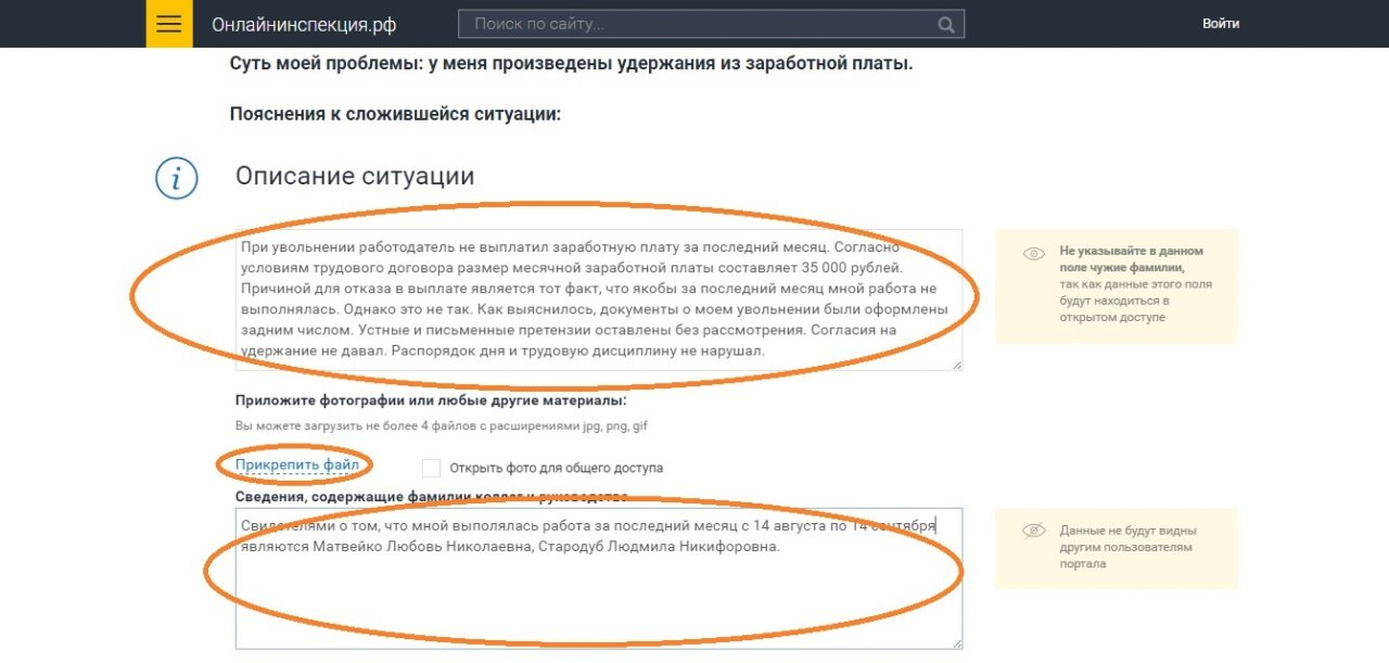 Жалоба в онлайн инспекцию 7
